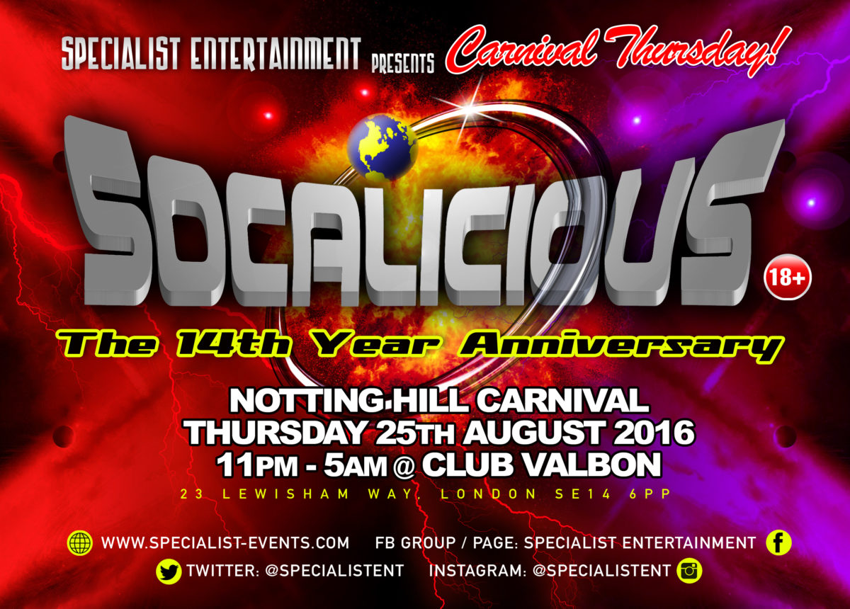 Specialist Entertainment presents Socalicious